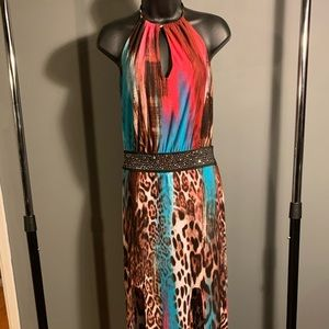 like new Venus colorful cheetah maxi dress (6/$14)